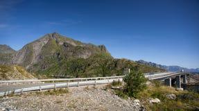 Bridge on Lofoten islands Stock Photography