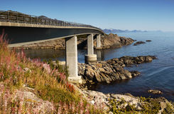 Bridge, Lofoten Islands Royalty Free Stock Image