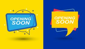 Opening soon background with typography royalty free stock photos