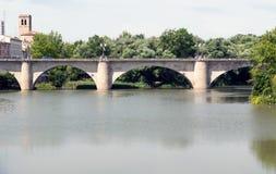 Bridge in Logroño Royalty Free Stock Images