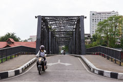 The bridge on Loikroh road across Ping river in Chiangmai city. Royalty Free Stock Photos