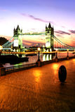 Bridge- London, England. Tower Bridge crossing the River Thames at sunrise in the city of London, England Stock Images