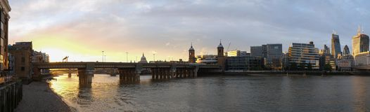 Bridge in London on sunset Royalty Free Stock Photography