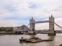 bridge london tower Μια από τις περισσότερες διάσημες γέφυρες Στοκ Εικόνα