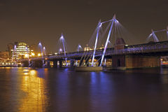 Bridge in London UK at night Stock Image