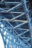 Bridge. A look under a new bridge,in the flats on Cleveland OH royalty free stock photography