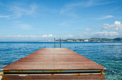 Bridge that looks at Portoroz Royalty Free Stock Photos
