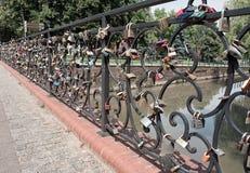 Bridge love Stock Photo