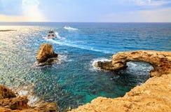 The bridge of love. Ayia Napa, Cyprus. Stock Images