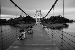 Bridge of love. Everything is Duality at Sawanpark Stock Photography