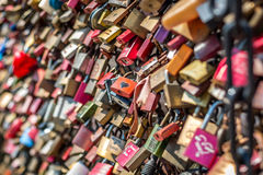 Bridge of love - locks bridge Stock Image