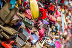 Bridge of love - locks bridge Stock Images