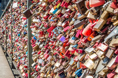 Bridge of love - locks bridge Stock Photo