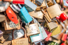 Bridge of love - locks bridge Royalty Free Stock Photography