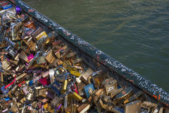 Bridge of Love Locks Stock Photo