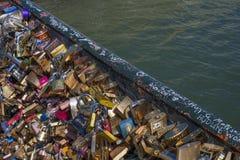 Bridge of Love Locks Stock Photo