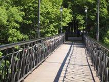 Bridge of lovers Stock Image