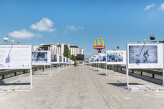 The bridge of the lovers with photographic exhibitions  in Sofia,Bulgaria Stock Images