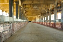 Bridge lower deck. The long closed lower deck of Cleveland's Detroit-Superior Bridge, periodically opened to walking tours royalty free stock image