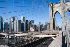 Bridge Lower Manhattan Royalty Free Stock Photos
