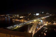 Bridge of Luis I at night, Porto, Portugal Stock Photography