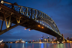 Bridge from Luna Park Dusk Stock Image