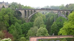 A bridge in Luxembourg Stock Photos