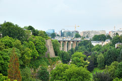 bridge in Luxembourg city Stock Image