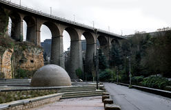Bridge in Luxembourg Royalty Free Stock Photography