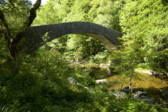 Bridge on the Lyn Valley Royalty Free Stock Photo