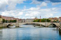Bridge, Lyon, France, urban landscape Royalty Free Stock Images