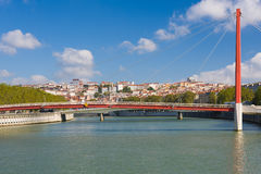 Bridge in Lyon in a summer day Royalty Free Stock Photo
