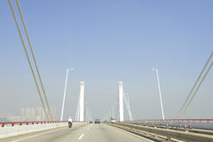 Bridge in Macao. Traffic on one of bridge in Macao, ex-colony of Portugal Royalty Free Stock Photos