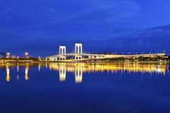 Bridge in Macau at night Royalty Free Stock Photography