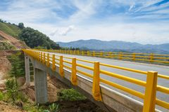 Free Bridge Made Of Concrete In The Mountains Of Colombia Stock Photography - 127254412