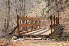 Bridge made with wood Royalty Free Stock Photography
