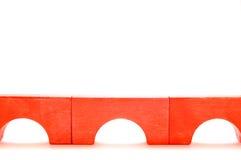 Bridge made of wooden blocks Stock Photos