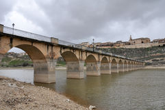 Bridge of Maderuelo, Segovia, Spain Stock Photo