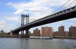 Bridge in Manhattan Stock Images