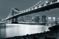bridge manhattan Royaltyfria Foton