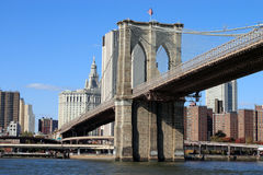 Bridge in Manhattan. Brooklyn bridge in Manhattan New York Royalty Free Stock Photo