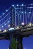 bridge manhattan night στοκ φωτογραφία