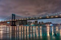 bridge manhattan night exposure long Νέα Υόρκη NYC Στοκ φωτογραφίες με δικαίωμα ελεύθερης χρήσης