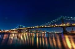 bridge manhattan night exposure long Νέα Υόρκη NYC Στοκ Εικόνα