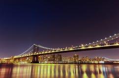 bridge manhattan night exposure long Νέα Υόρκη NYC Στοκ φωτογραφία με δικαίωμα ελεύθερης χρήσης