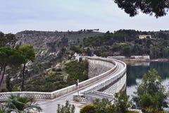 Bridge in Marathon. A narrow bridge in Marathon, Greece stock photo