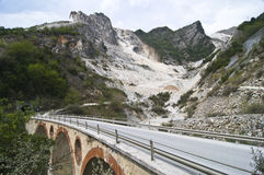 Bridge and Marble Quarry Stock Images