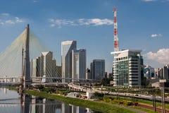 Bridge in Marginal Pinheiros Sao Paulo Brazil Royalty Free Stock Photography