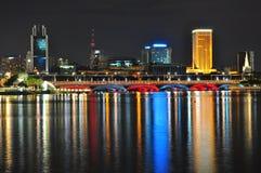 A bridge by Marina Bay Royalty Free Stock Images