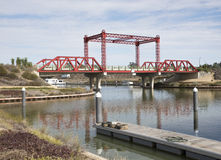 Bridge at Marina. Stock Photos